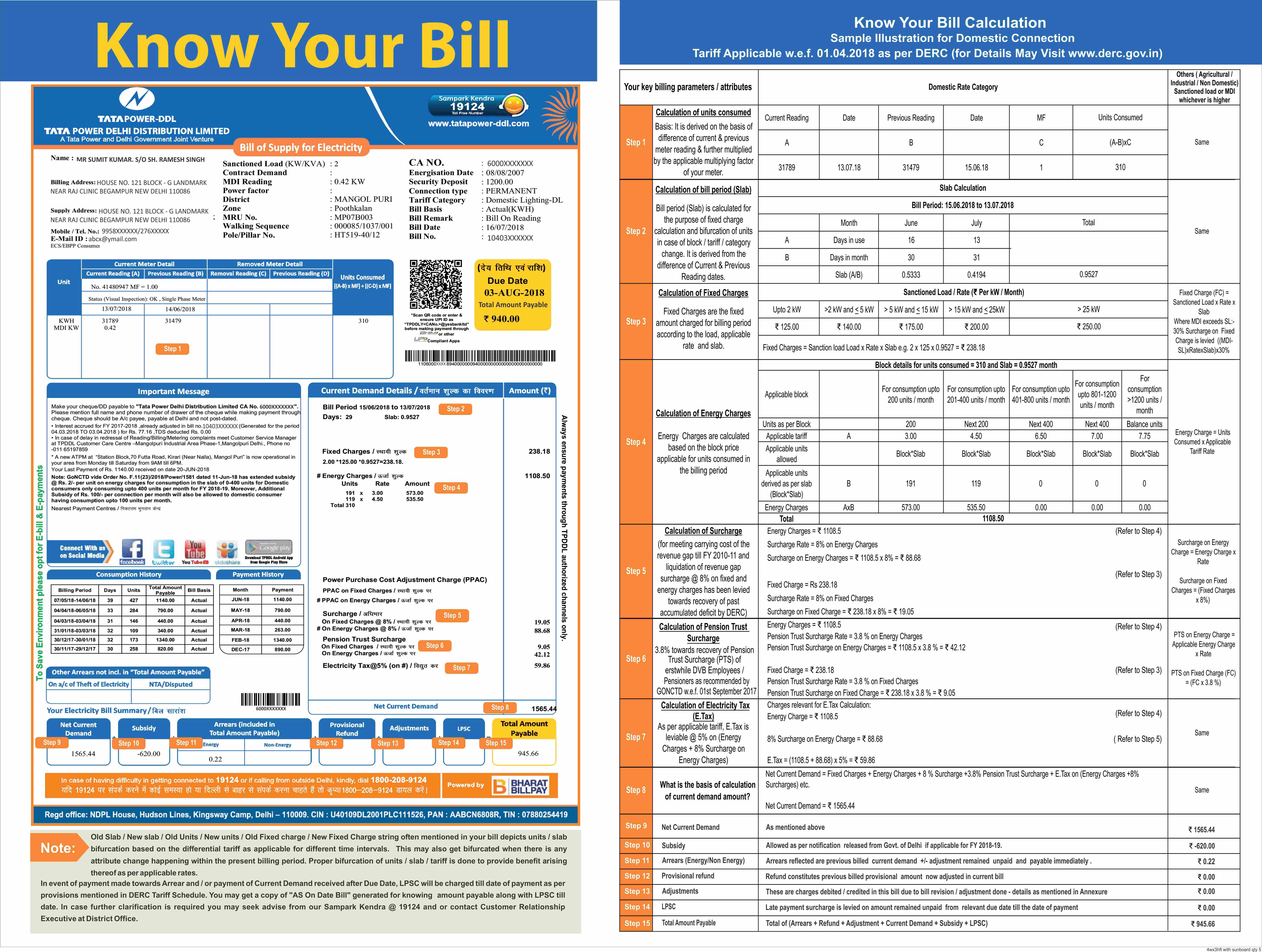 Tata Power Ddl Customer Information